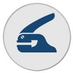 embossing seal icon